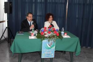 Col.Giorgio Rea con la Presidente della Pro Loco Marina Veglianti