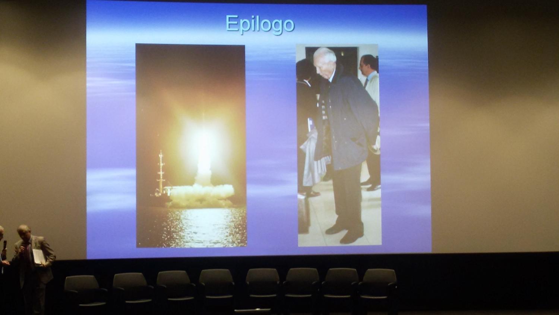 Lancio del S.Marco e il Prof. Luigi Broglio